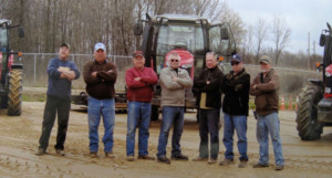 Mahoning Valley track superintendent R. J. Moore with his track crew (Photo courtesy Mahoning Valley)